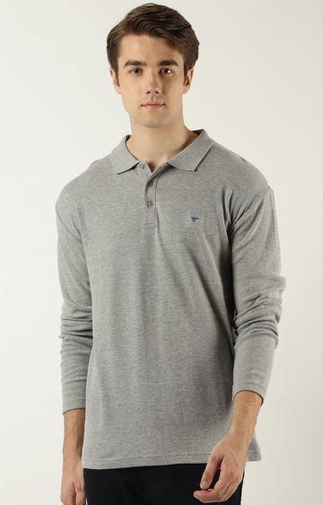 Blue Saint | Grey Melange Polo T-Shirt