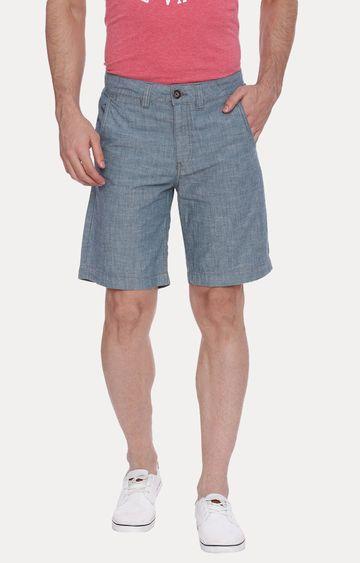 Blue Saint   Blue Melange Shorts