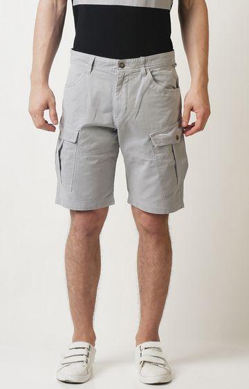 Blue Saint | Grey Solid Shorts