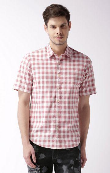 Blue Saint   Pink Checked Casual Shirt