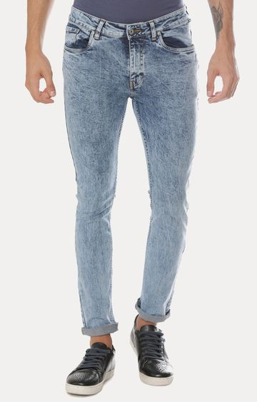 Blue Saint | Blue Solid Straight Jeans