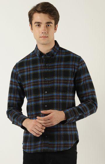 Blue Saint   Black and Blue Checked Casual Shirt