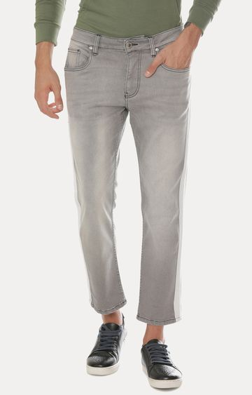 Blue Saint | Grey Solid Cropped Jeans