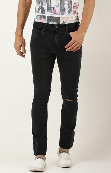 Blue Saint | Black Solid Straight Jeans
