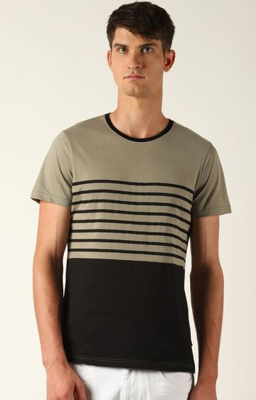 Blue Saint | Black Striped T-Shirt
