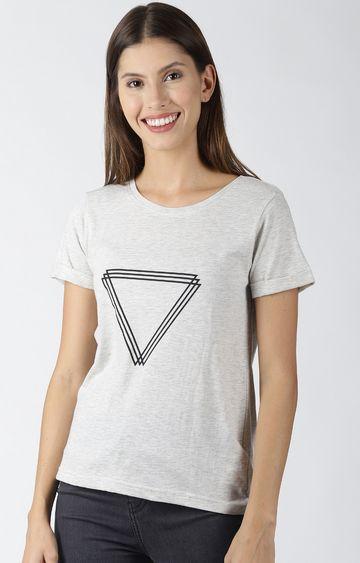 Blue Saint | Grey Printed T-Shirt