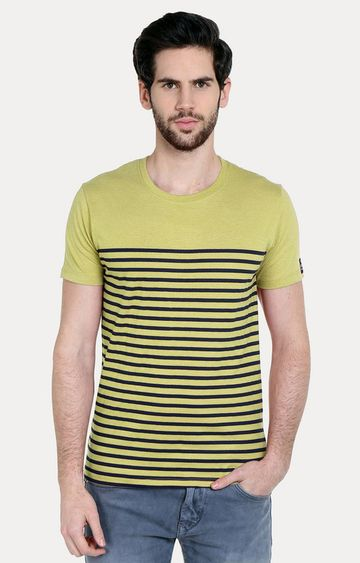 Cult Fiction | Green Striped T-Shirt