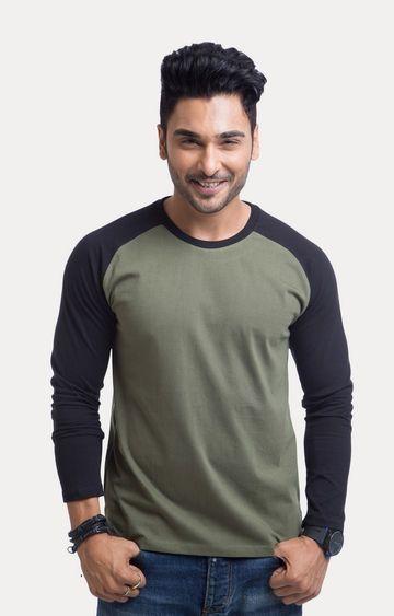 Cult Fiction | Green Solid T-Shirt