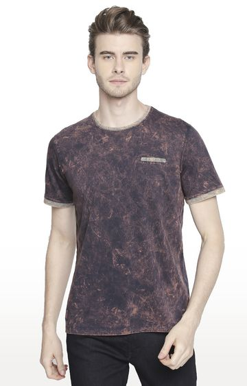 Cult Fiction | Brown Solid T-Shirt