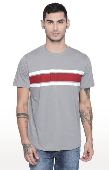 Cult Fiction | Grey Striped T-Shirt