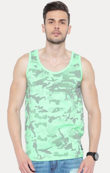 Cult Fiction | Light Green Sleeveless T-Shirt