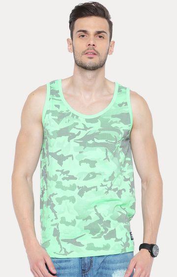 Cult Fiction | Light Green Sleeveless T-Shirt
