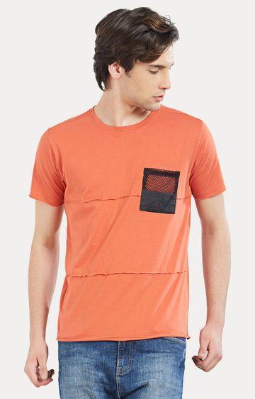 Cult Fiction | Orange Solid T-Shirt