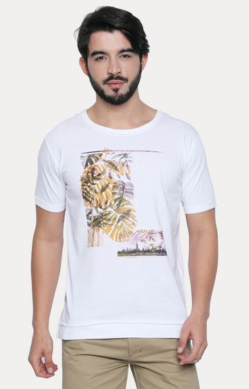 Cult Fiction | White Printed T-Shirt