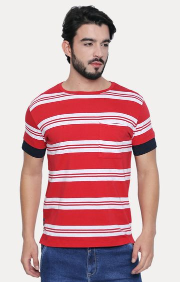 Cult Fiction | Red Striped T-Shirt