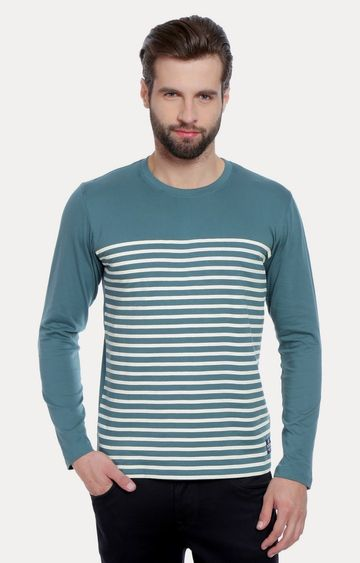 Cult Fiction | Blue Striped T-Shirt