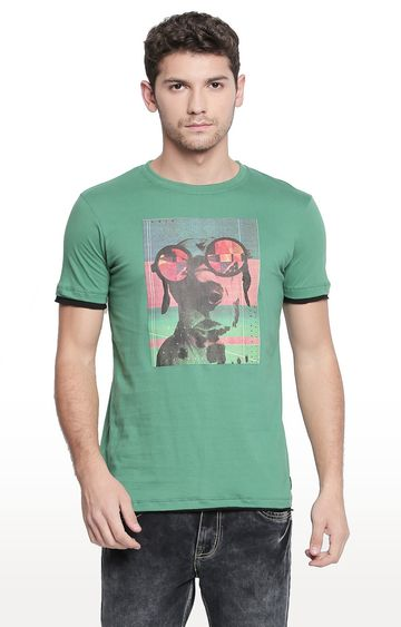 Cult Fiction | Green Printed T-Shirt
