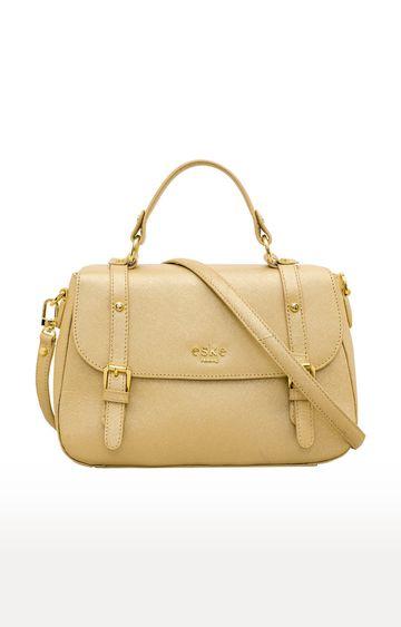 ESKE | Light Gold Madeline Leather Satchel