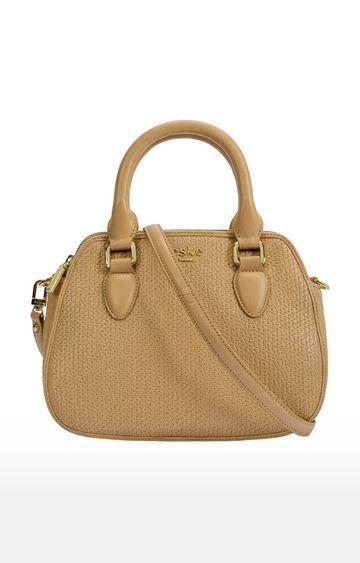 ESKE | Beige Sophie Double Zip Handbag