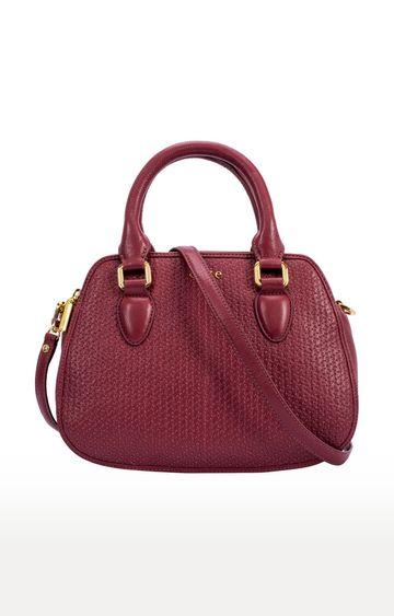 ESKE | Wine Sophie Double Zip Handbag