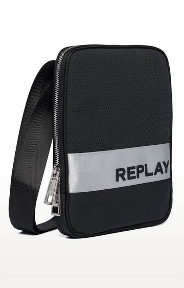 REPLAY | Black Messenger Bag