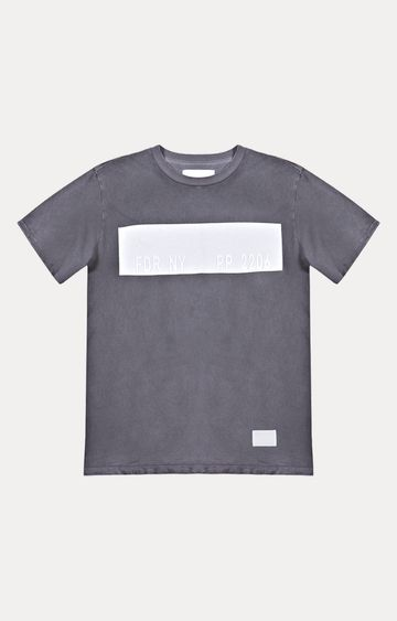 REPLAY   Grey Printed T-Shirt