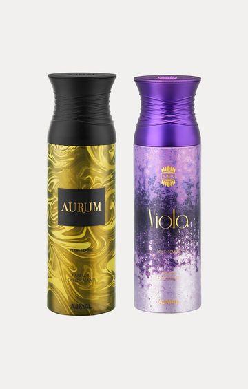 Ajmal   Aurum and Viola Deodorants - Pack of 2