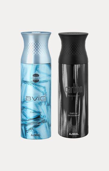 Ajmal | Avid and Carbon Deodorants - Pack of 2