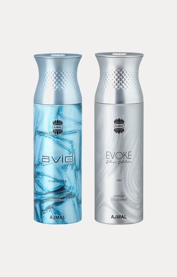 Ajmal | Avid and Evoke Silver Him Deodorants - Pack of 2
