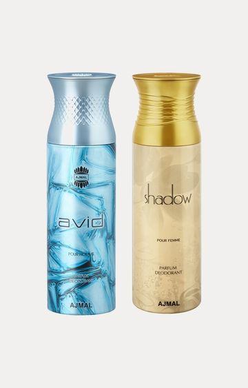 Ajmal | Avid and Shadow Her Deodorants - Pack of 2