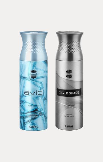 Ajmal | Avid and Silver Shade Deodorants - Pack of 2