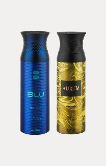Ajmal | Blu and Aurum Deodorants - Pack of 2