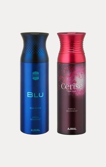 Ajmal | Blu and Cerise Deodorants - Pack of 2