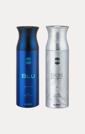 Ajmal | Blu and Evoke Silver Him Deodorants - Pack of 2