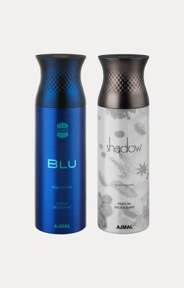 Ajmal | Blu and Shadow Him Deodorants - Pack of 2