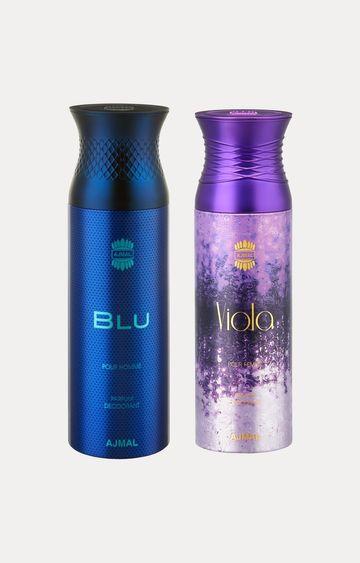 Ajmal | Blu and Viola Deodorants - Pack of 2