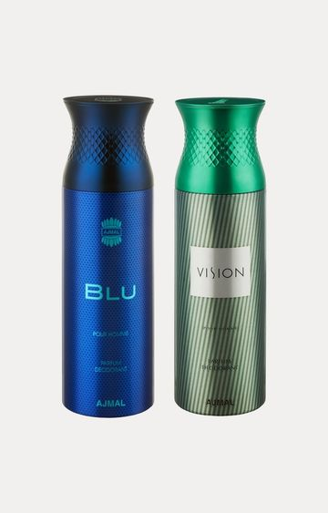 Ajmal | Blu and Vision Deodorants - Pack of 2