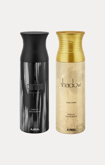 Ajmal | Carbon and Shadow Her Deodorants - Pack of 2