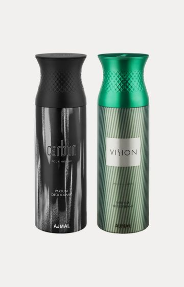 Ajmal | Carbon and Vision Deodorants - Pack of 2