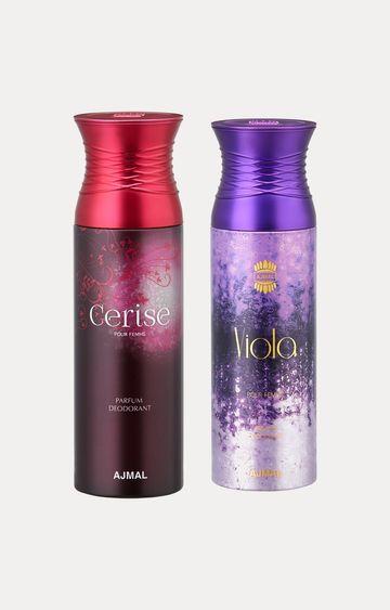 Ajmal | Cerise and Viola Deodorants - Pack of 2