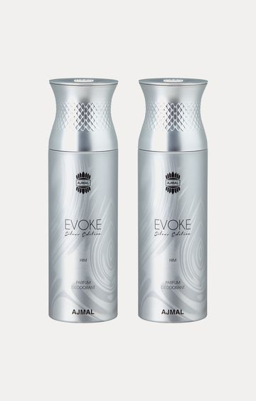Ajmal | Evoke Silver Him Deodorants - Pack of 2