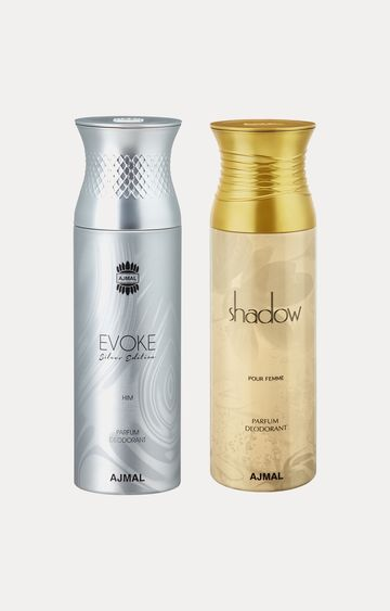 Ajmal | Evoke Silver Him and Shadow Her Deodorants - Pack of 2
