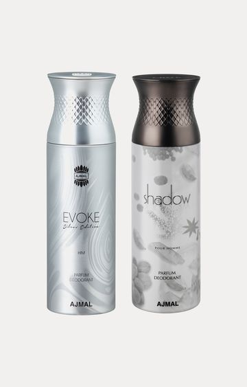 Ajmal | Evoke Silver Him and Shadow Him Deodorants - Pack of 2