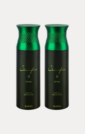 Ajmal | Sacrifice II Him Deodorants - Pack of 2