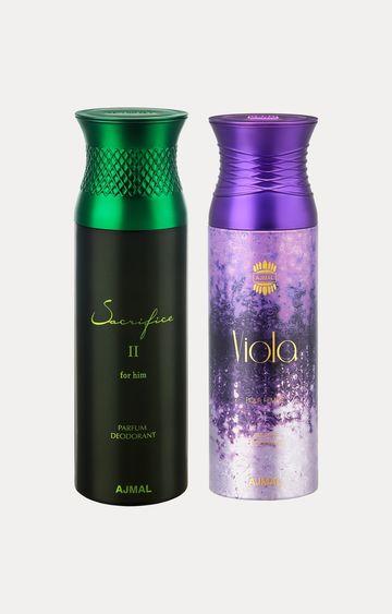 Ajmal | Sacrifice II Him and Viola Deodorants - Pack of 2