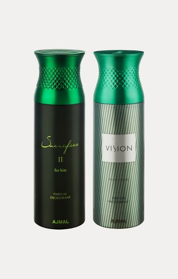 Ajmal | Sacrifice II Him and Vision Deodorants - Pack of 2