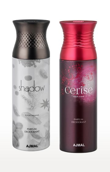 Ajmal | Shadow Homme and Cerise Deodorant Spray - Pack of 2