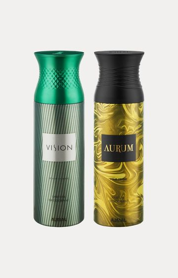 Ajmal | Vision and Aurum Deodorants - Pack of 2