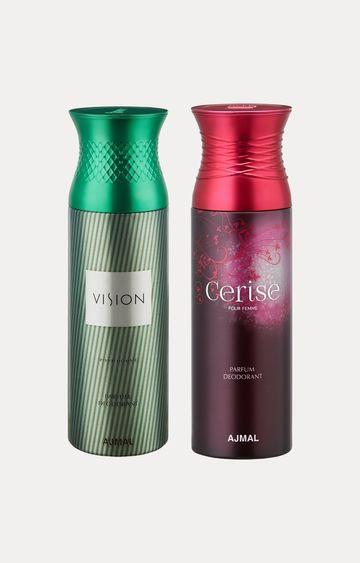 Ajmal | Vision and Cerise Deodorants - Pack of 2