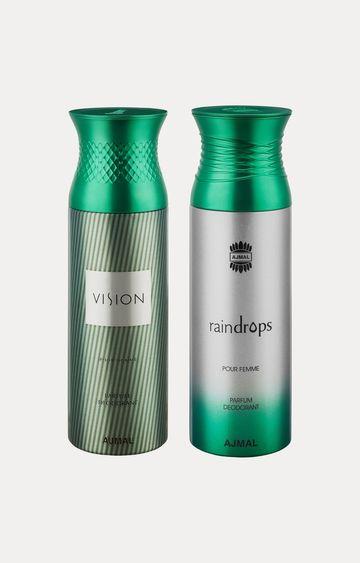 Ajmal | Vision and Raindrops Deodorants - Pack of 2